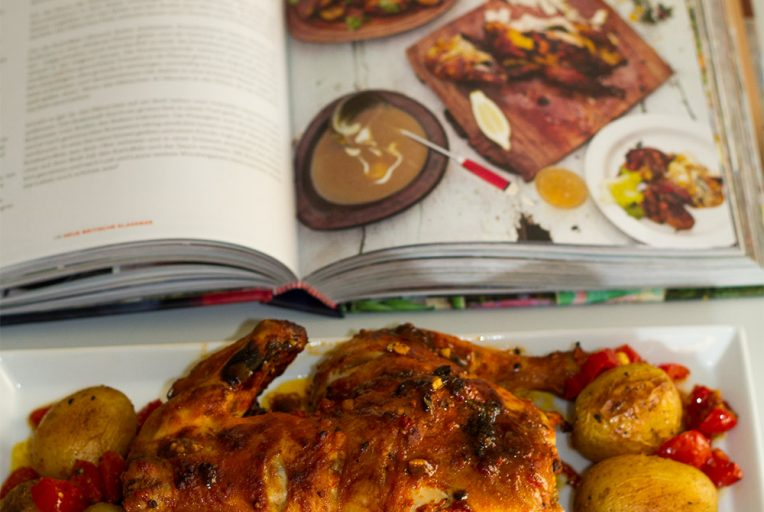 Empire roast chicken with Bombay-style potatoes, Jamie Oliver