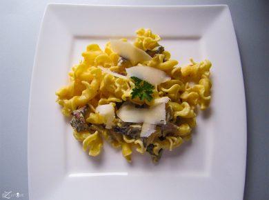 Campanelle mit Austernpilzen