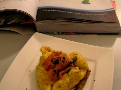Sunday Brunch: Glasgow potato scones with scrambled egg and smoked salmon