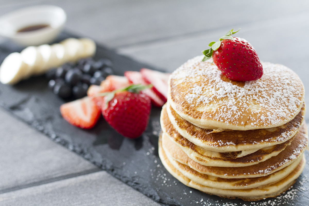 Delicious and fluffy american pancakes